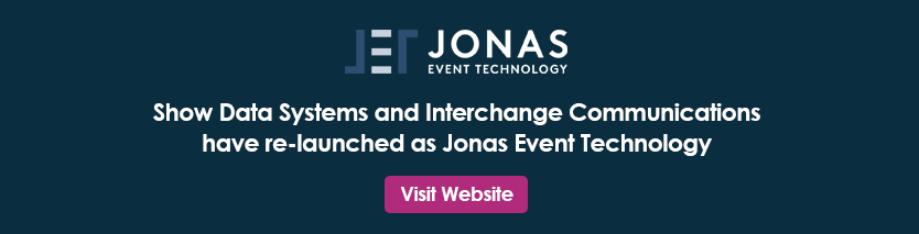 Show Data Systems and Interchange Communications have re-launched as Jonas Event Technology